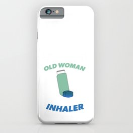 Old Woman with Inhaler 2 iPhone Case