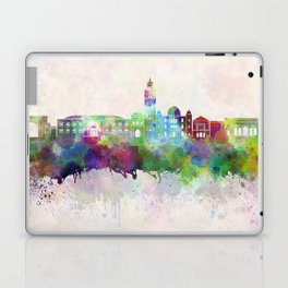 Marrakesh skyline in watercolor background Laptop & iPad Skin