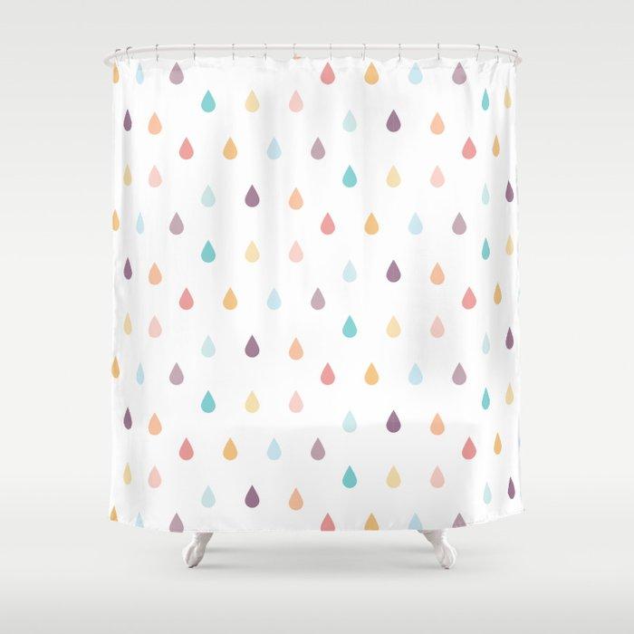 Colorful Rain Shower Curtain