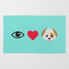 I Love Dogs Rug