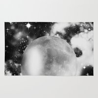 the moon Area & Throw Rugs featuring Moon by haroulita