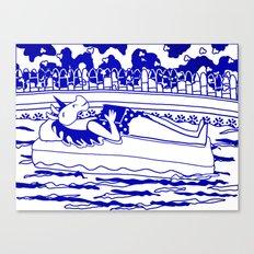 Pool Time Unicorn V2 Canvas Print