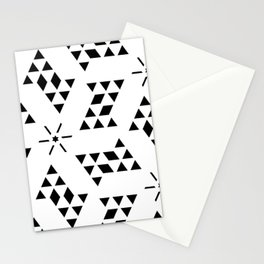 Triangle slide Pattern Stationery Cards