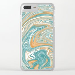 Tidal Wave abstract Clear iPhone Case