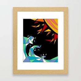 Sun and Wave Framed Art Print