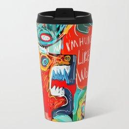I'm hungry like a wolf Street Art Graffiti Travel Mug