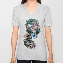 Floral Skull RP Unisex V-Neck