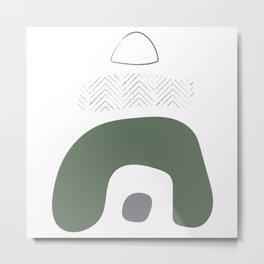 Abstract Boho Art Print Metal Print
