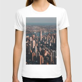 Empire State Building seen from a plane T-shirt
