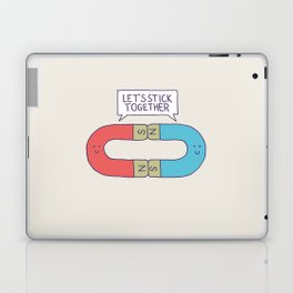 Opposites Attract Laptop & iPad Skin