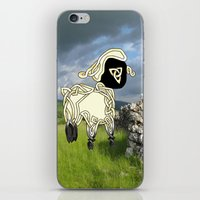 lamb iPhone & iPod Skins featuring Lamb by Knot Your World
