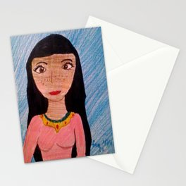 Children, painting, illustration Stationery Cards