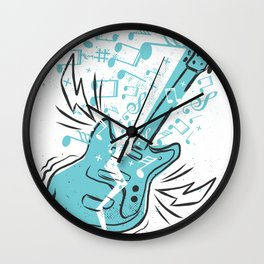 Electronic Guitar Wall Clock