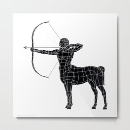 Centaur / Black version Metal Print