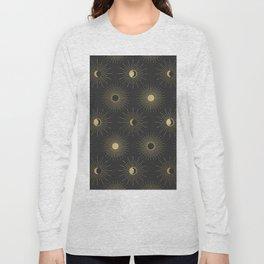 Moon and Sun Theme Long Sleeve T-shirt