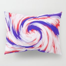 USA Red White Blue swirl Pillow Sham