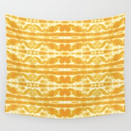 Yellow Tie Dye Twos Wall Tapestry