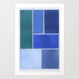 A Story Told in Hues of Blue Art Print
