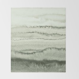 WITHIN THE TIDES - SAGE GREEN by MS  Throw Blanket