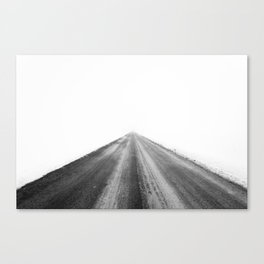 road in the white Canvas Print