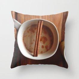 Pumpkin Spice Coffee Throw Pillow