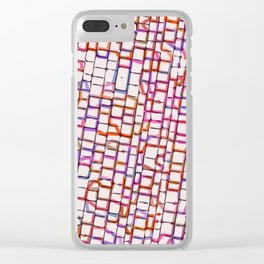 Snakes and Ladders and Bricks Clear iPhone Case