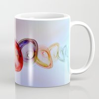 andreas preis Mugs featuring Glass Effect by Klara Acel
