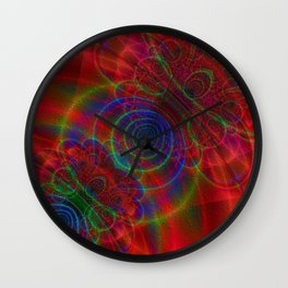 Plasma Bubbles Wall Clock