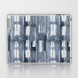 Simply Shibori Lines in Indigo Blue on Lunar Gray Laptop & iPad Skin