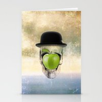 magritte Stationery Cards featuring Magritte Skull by HenryWine