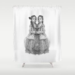 Sisters Twins Shower Curtain