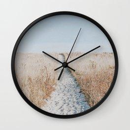 summer blues Wall Clock