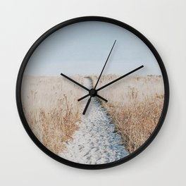 summer blues Wall Clock