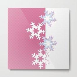 New year , snowflakes Metal Print