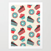 happy birthday Art Prints featuring happy birthday  by marella