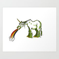 A Unicorn  For Drunks Art Print