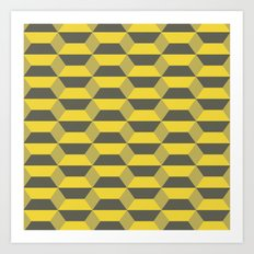 Geometric Gold Art Print