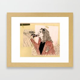 """just be yourself!"" Framed Art Print"