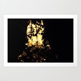 Abstract Eiffel Tower Art Print