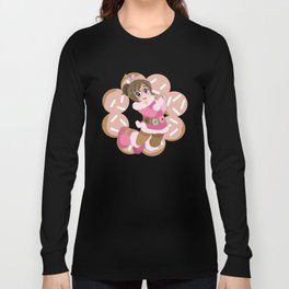 Donuts - Pink Frosted Pon De Ring Long Sleeve T-shirt