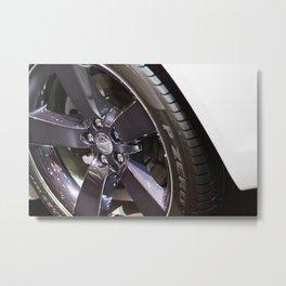 Chrysler 300C Car Wheel Metal Print