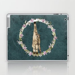Lar Gibbon Lily Wreath Laptop & iPad Skin