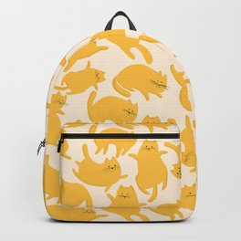 Yellow Cats Pattern Backpack