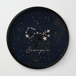Scorpio - Rose Gold Wall Clock