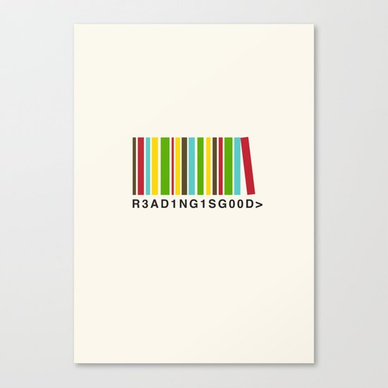 Reading is good Canvas Print