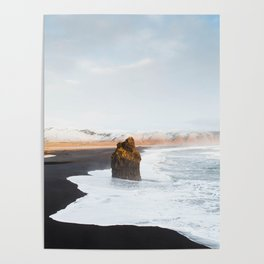 Black Sand Beach, South Iceland Poster