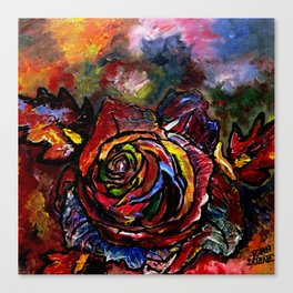 Rose in Colour Canvas Print