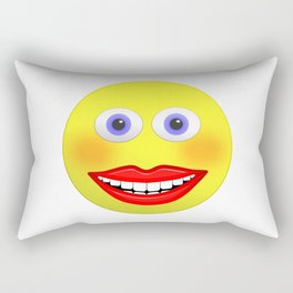 Smiley Female With Big Smiling Mouth Rectangular Pillow