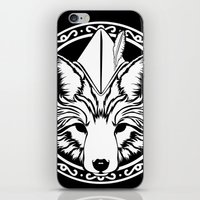 robin hood iPhone & iPod Skins featuring Foxin Hood by AdamAether