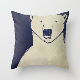 Polar Bear - Stars Up Above Throw Pillow